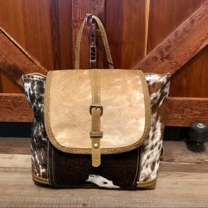 Utopian Backpack cowhide and leather C-2447